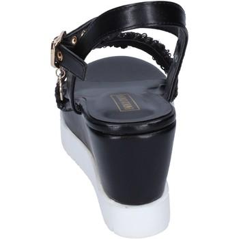 Enrico Coveri sandalen kunstleder schwarz - Kostenloser Versand    - Schuhe Sandalen / Sandaletten Damen 3999