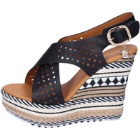 Schuhe Damen Sandalen / Sandaletten Enrico Coveri sandalen kunstleder schwarz