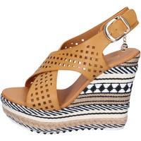 Schuhe Damen Sandalen / Sandaletten Enrico Coveri sandalen kunstleder braun
