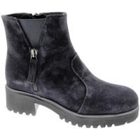 Schuhe Damen Boots Soffice Sogno SOSO9823bl blu