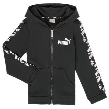 Kleidung Jungen Sweatshirts Puma AMPLI HOOD JKT Schwarz