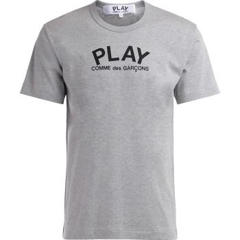 Kleidung Herren T-Shirts Comme Des Garcons T-Shirt  in grauer Baumwolle mit Logo Grau