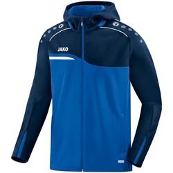Kleidung Damen Trainingsjacken Jako Sport Kapuzenjacke Competition 2.0 6818D 49 blau