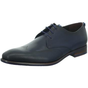 Schuhe Herren Richelieu Floris Van Bommel Premium Floris Dressed DarkBlue Calf 18082/01 blau