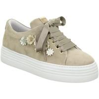 Schuhe Damen Sneaker Low Alpe 3547 TAUPE rosa