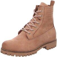 Schuhe Damen Boots Blackstone Stiefeletten OL 22 beige