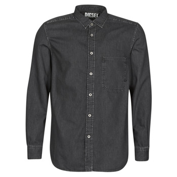 Kleidung Herren Langärmelige Hemden Diesel D-BER-P Schwarz