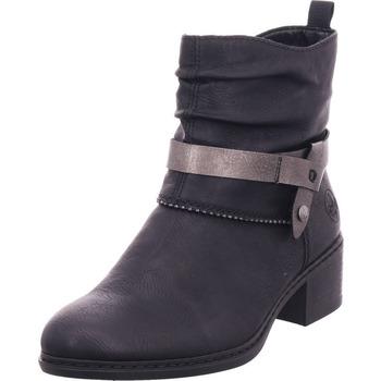 Schuhe Damen Stiefel Rieker 7767900 776 schwarz/altsilber