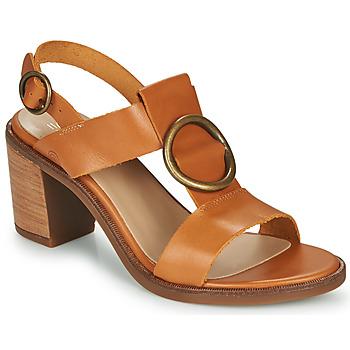 Schuhe Damen Sandalen / Sandaletten Casual Attitude MELINA Camel