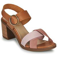 Schuhe Damen Sandalen / Sandaletten Casual Attitude MEL Camel / Rose