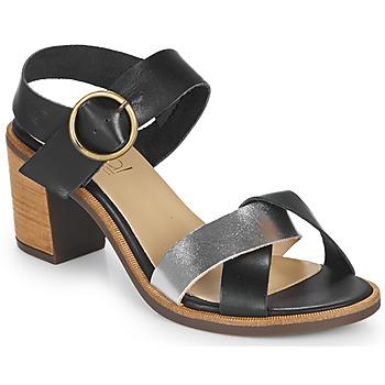 Schuhe Damen Sandalen / Sandaletten Casual Attitude MILLA Schwarz / Silbern