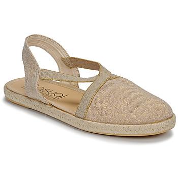 Schuhe Damen Sandalen / Sandaletten Casual Attitude MISSA Beige / Goldfarben