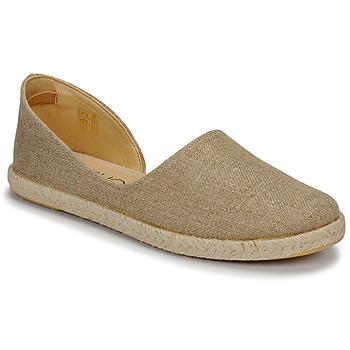 Schuhe Damen Leinen-Pantoletten mit gefloch Casual Attitude JALAYIVE Beige