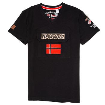 Kleidung Jungen T-Shirts Geographical Norway JIRI Schwarz