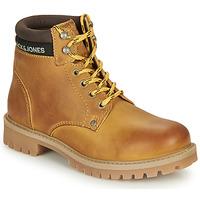 Schuhe Jungen Boots Jack & Jones JFW STATTON LEATHER Honig