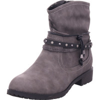 Schuhe Damen Stiefel Idana Schlupf/RV-Stiefelette KF glat GREY 206