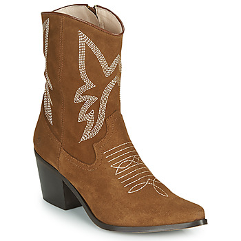 Schuhe Damen Low Boots Betty London MOSSINO Camel