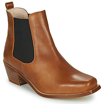 Schuhe Damen Low Boots Betty London MERKATO Cognac