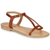 Schuhe Damen Sandalen / Sandaletten Betty London MISSINE Cognac