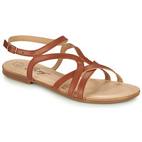 Schuhe Damen Sandalen / Sandaletten Betty London MASSANE Cognac