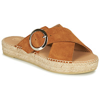Schuhe Damen Pantoffel Betty London MARIZETTE Cognac