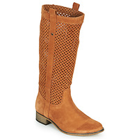 Schuhe Damen Klassische Stiefel Betty London DIVOUI Cognac