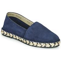 Schuhe Damen Leinen-Pantoletten mit gefloch Betty London MARILA Marine