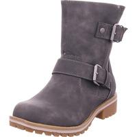 Schuhe Damen Stiefel Idana Schlupf-/RV-Stiefelette WF spo DK. GREY 256