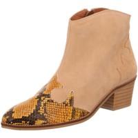Schuhe Damen Stiefel Dna Stiefeletten Western-Stiefelette 514548 yellow/ beige
