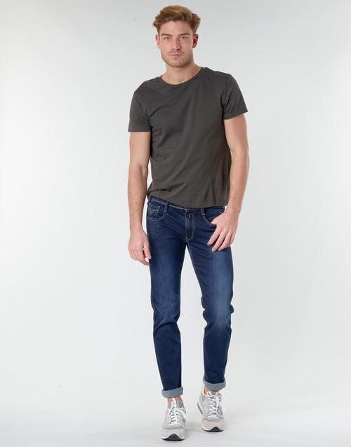 Replay Anbass Blau - Kostenloser Versand Kleidung Slim Fit Jeans Herren 69