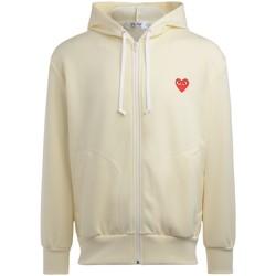 Kleidung Herren Sweatshirts Comme Des Garcons Herren Sweatshirt in Elfenbeinfarbe Weiss