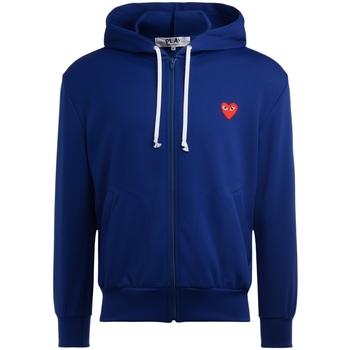 Kleidung Herren Sweatshirts Comme Des Garcons Sweatshirt mit Rotem Herz Blue