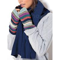 Accessoires Damen Handschuhe Admas Weicher Schal blau Blau