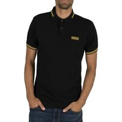Kleidung Herren Polohemden Barbour Wesentliches gespitztes Polo-Shirt schwarz