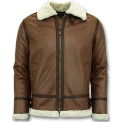 Kleidung Herren Jacken Tony Backer Lammy Coat Shearling Jacket Braun
