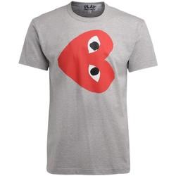 Kleidung Herren T-Shirts Comme Des Garcons Herren T-Shirt in mit rotem Grau