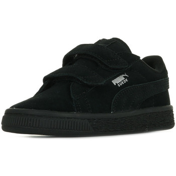 Schuhe Kinder Sneaker Low Puma Suede 2 Straps Inf Schwarz