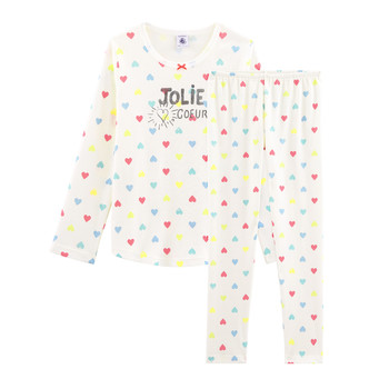Kleidung Mädchen Pyjamas/ Nachthemden Petit Bateau FIONA Multicolor