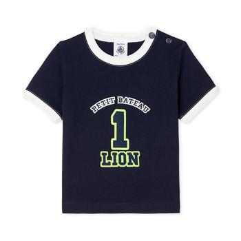 Kleidung Jungen T-Shirts Petit Bateau FUDGE Blau