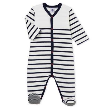 Kleidung Kinder Pyjamas/ Nachthemden Petit Bateau FUT Weiss / Blau