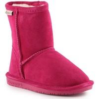 Schuhe Mädchen Schneestiefel Bearpaw Winterschuhe  Emma Toddler Zipper 608TZ-671 Pom Berry rosa