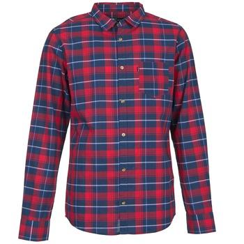 Kleidung Herren Langärmelige Hemden Rip Curl CONNECTION Rot / Blau