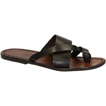 Schuhe Herren Sandalen / Sandaletten Gianluca - L'artigiano Del Cuoio 545 U MORO CUOIO Testa di Moro