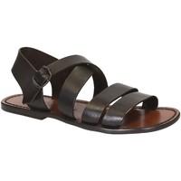 Schuhe Herren Sandalen / Sandaletten Gianluca - L'artigiano Del Cuoio 508 U MORO CUOIO Testa di Moro