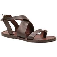 Schuhe Damen Sandalen / Sandaletten Gianluca - L'artigiano Del Cuoio 571 D MORO CUOIO Testa di Moro