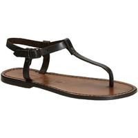 Schuhe Damen Sandalen / Sandaletten Gianluca - L'artigiano Del Cuoio 532 D MORO CUOIO Testa di Moro