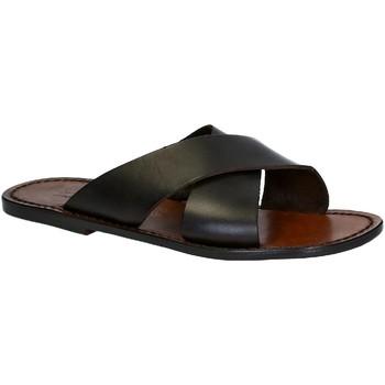 Schuhe Herren Pantoffel Gianluca - L'artigiano Del Cuoio 560 U MORO CUOIO Testa di Moro