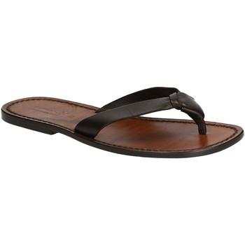 Schuhe Herren Zehensandalen Gianluca - L'artigiano Del Cuoio 580 U MORO CUOIO Testa di Moro