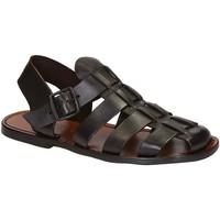 Schuhe Herren Sandalen / Sandaletten Gianluca - L'artigiano Del Cuoio 502 U MORO CUOIO Testa di Moro