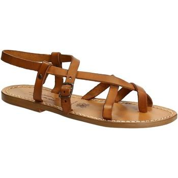 Schuhe Damen Sandalen / Sandaletten Gianluca - L'artigiano Del Cuoio 530 D CUOIO CUOIO Cuoio